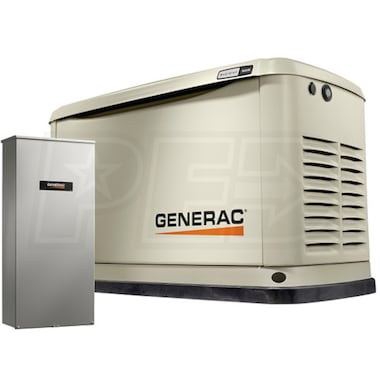Generac Guardian™ 16kW Aluminum Standby Generator System (200A Service Disconnect + AC Shedding)