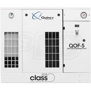 Quincy QOF 5-HP Oil-Free Tankless Scroll Compressor (208/230/460V 3-Phase 145 PSI)