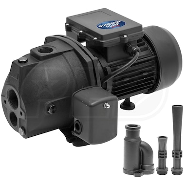 Superior Pump 9.9 GPM 1/2 HP Cast Iron Convertible Jet Pump w/ Injector Kit