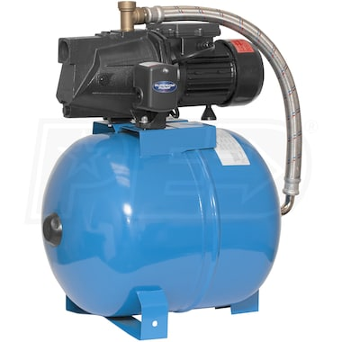 Superior Pump 13.75 GPM 3/4 HP Cast Iron Shallow Well Jet Pump System w/ 13.2-Gallon Tank
