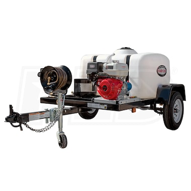 Simpson Professional 4200 PSI (Gas - Cold Water) Pressure Washer Trailer w/ Honda Engine