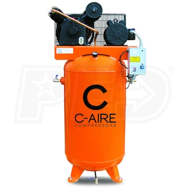 C-Aire 5-HP 80-Gallon Two-Stage Air Compressor (208-230V 1-Phase)