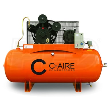 C-Aire 10-HP 120-Gallon Two-Stage Air Compressor (460V 3-Phase)