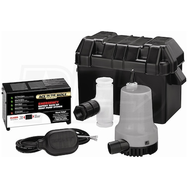 Simer A5500 - Super Ace-In-The-Hole Battery Backup Sump Pump System (2000 GPH @ 10')