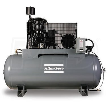 Atlas Copco AR7.5 7.5-HP 80-Gallon Two-Stage Packaged Compressor (208/230V 1-Phase)