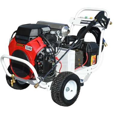 Pressure-Pro Professional Pro-Max 3500 PSI (Gas-Cold Water) Polychain Belt-Drive Aluminum Frame Pressure Washer w/ Electric Start Honda Engine