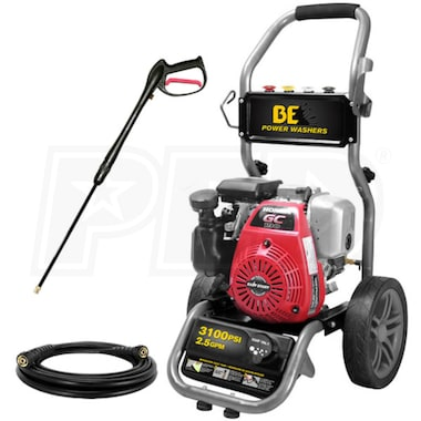 BE 3100 PSI (Gas - Cold Water) Pressure Washer w/ Honda Engine