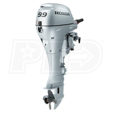 "Honda 9.9 HP (25"") Shaft Outboard Motor w/ Electric Start, Power Thrust"