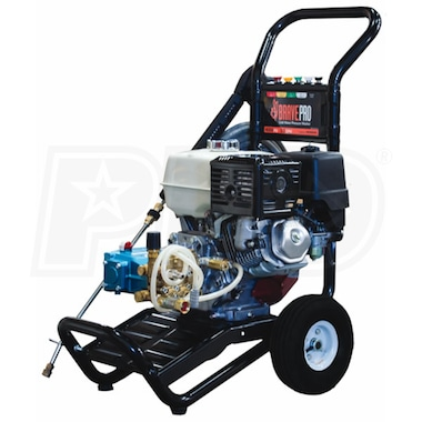 BravePro Professional 4000 PSI (Gas - Cold Water) Pressure Washer w/ Honda Engine & CAT Pump