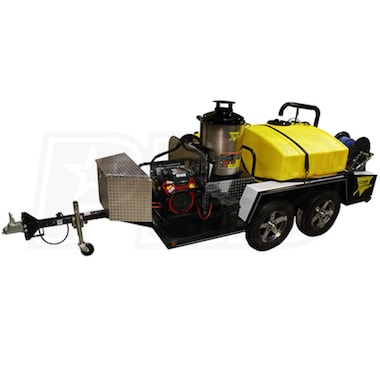 Cam Spray Professional 3000 PSI (Gas-Hot Water) Trailer Pressure Washer
