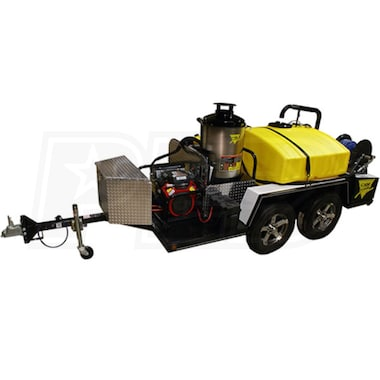 Cam Spray Professional 5000 PSI (Gas - Hot Water) Pressure Washer Trailer w/ Generator, Honda Engine & Electric Start