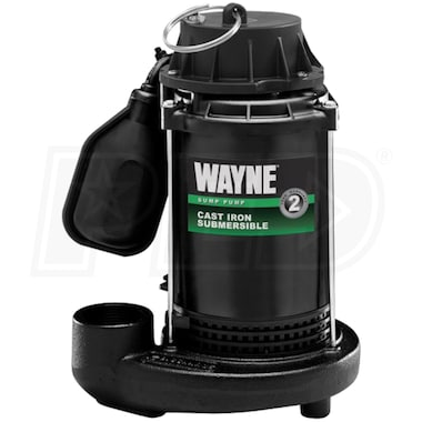 Wayne CDT50 - 1/2 HP Cast Iron Submersible Sump Pump w/ Tether Float Switch