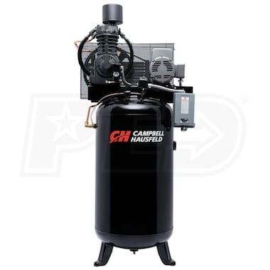 Campbell Hausfeld Commercial 7.5-HP 80-Gallon Two Stage Air Compressor (230V 1-Phase) Fully Packaged