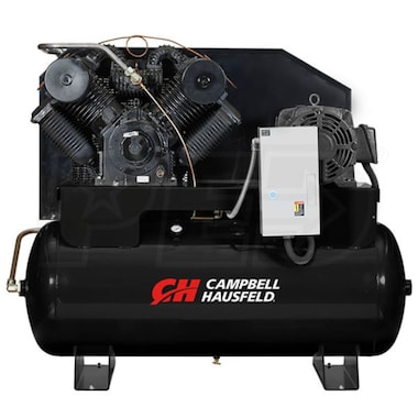 Campbell Hausfeld Commercial  25-HP 120-Gallon Two-Stage Air Compressor (230V 3-Phase) w/ Starter