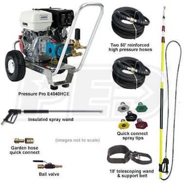 Pressure-Pro Basic Start Your Own Pressure Washing Business Kit w/ Aluminum Frame, CAT Pump & Electric Start Honda Engine