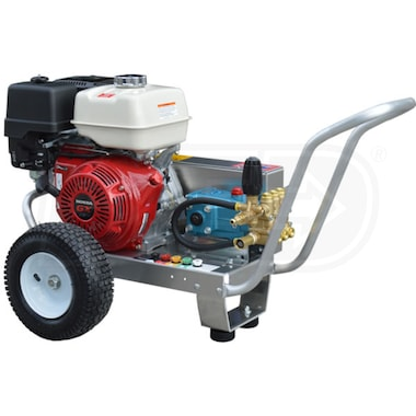 Pressure-Pro Professional 4000 PSI (Gas-Cold Water) Belt-Drive Aluminum Frame Pressure Washer w/ Honda Engine & CAT Pump