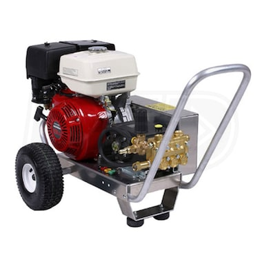 Pressure-Pro Professional 4000 PSI (Gas-Cold Water) Belt-Drive Aluminum Frame Pressure Washer w/ Electric Start Honda Engine