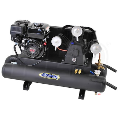 EMAX 6.5-HP 10-Gallon (Belt-Drive) 3-Cylinder Gas Wheelbarrow Air Compressor w/ Honda Engine