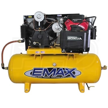 EMAX 24-HP 120-Gallon Two-Stage Truck Mount Air Compressor w/ Electric Start Honda Engine