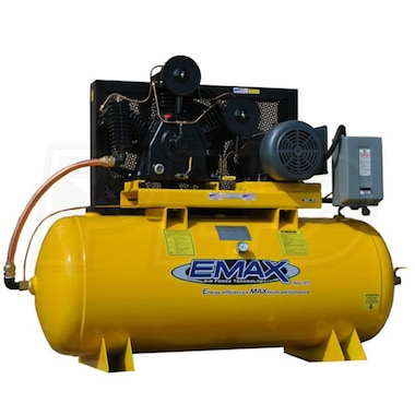 EMAX 10-HP 120-Gallon Two-Stage Air Compressor (460V 3-Phase)