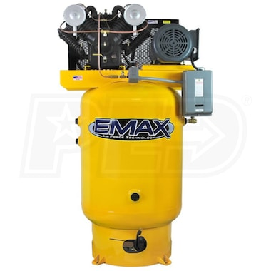 EMAX 10-HP 120-Gallon V-4 Two-Stage Air Compressor (460V 3-Phase)
