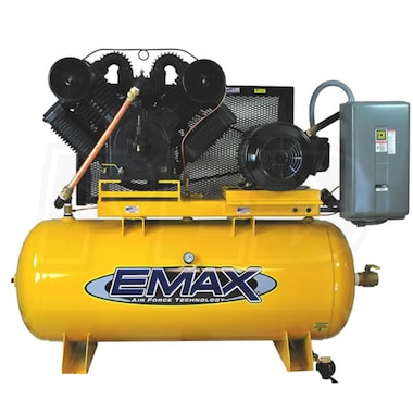 EMAX 20-HP 120-Gallon Two-Stage Air Compressor (460V 3-Phase)