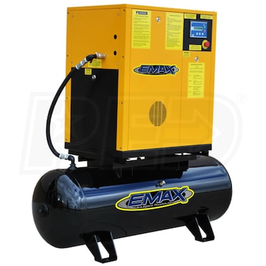 EMAX 10-HP 80-Gallon Rotary Screw Air Compressor (230V 1-Phase)