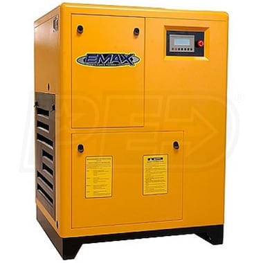 EMAX 25-HP VSD Tankless Rotary Screw Air Compressor w/ Variable Speed Drive (208/230/460V 3-Phase)