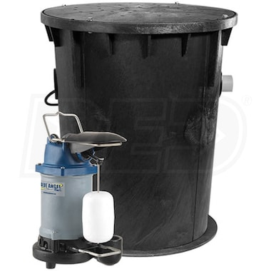 Blue Angel Pumps - 1/3 HP Cast Iron Job-Ready Outdoor Sump System w/ Vertical Float Switch