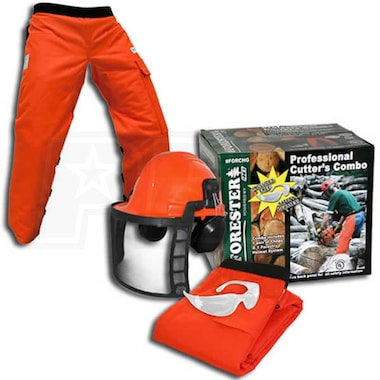 Forester Professional Cutter's Combo Chaps/Helmet/Glasses Combo