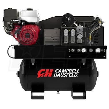 Campbell Hausfeld Commercial 11-HP 30-Gallon Two-Stage Truck Mount 2-In-1 Air Compressor / Generator w/ Honda Engine