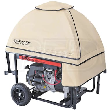 GenTent® 10k Stormbracer® Rain/Wet Weather Safety Canopy For Portable Generators (Tan) - Made in the USA