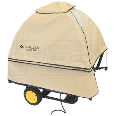 GenTent® 10k Stormbracer® Rain/Wet Weather Safety Canopy For Fixed Handle Honda Generators (Tan) - Made in the USA