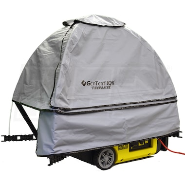 GenTent® 10k Stormbracer® w/ XKi™ Rain/Wet Weather Safety Canopy For Small Inverter Generators up to 3000W (Grey)