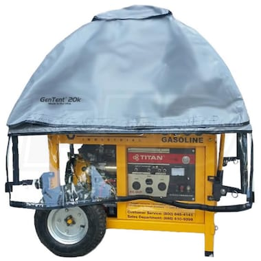 GenTent® 20k Stormbracer® Rain/Wet Weather Safety Canopy For Portable Generators (10kW+ w/ Square or Round Tube Frame - Grey) - Made in the USA