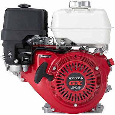 "Honda GX240™ 270cc OHV Horizontal Engine, Oil Alert, Threaded 1"" x 3-1/2"" Crankshaft (Non-Honda Pumps)"