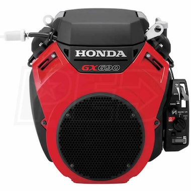 "Honda GX690™ 688cc V-Twin OHV Electric Start Horizontal Engine, 17A Charging, Control Box, 1-7/16"" x 4.37"" Keyed Crankshaft"