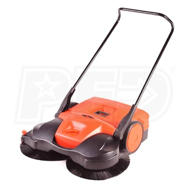 "Haaga (31"") Battery Powered Triple Brush Push Power Sweeper"