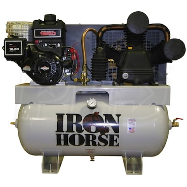 Iron Horse 12-HP 30-Gallon Two-Stage Truck Mount Air Compressor w/ Electric Start Briggs & Stratton Engine