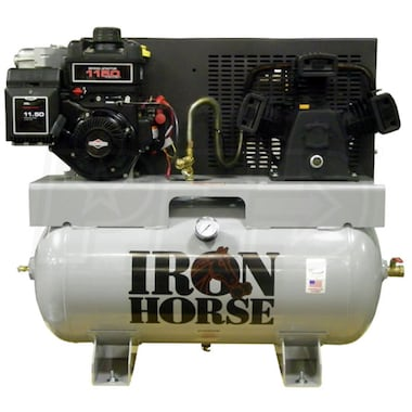 Iron Horse 8-HP 30-Gallon Single Stage Truck Mount Air Compressor w/ Electric Start