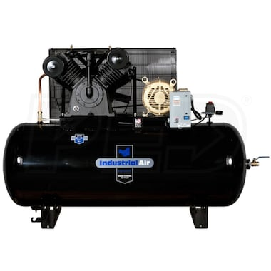 Industrial Air 10-HP 120-Gallon Two-Stage Air Compressor (460V 3-Phase)