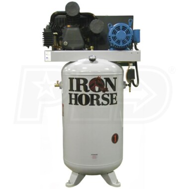 Iron Horse 7.5-HP 80-Gallon Two-Stage Air Compressor (208/230V 3-Phase)