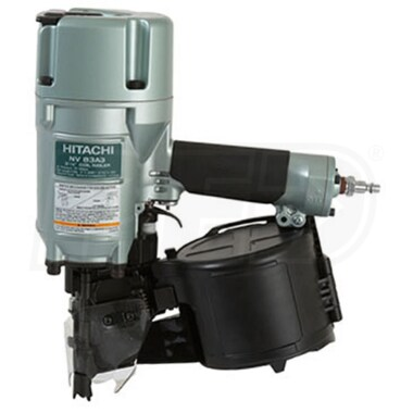 "Hitachi 3 1/4"" Coil Framing Nailer For 2"" to 3 1/4"" 16° Wire Coil Nails"