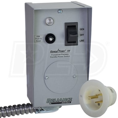 Reliance Controls 15-Amp (120V 1-Circuit) Furnace Transfer Switch