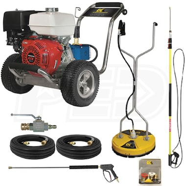 BE Professional 4000 PSI (Gas-Cold Water) Start Your Own Pressure Washing Business Kit w/ CAT Pump, Honda Engine & SS Frame