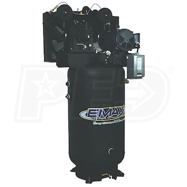 EMAX 7.5-HP 80-Gallon Two-Stage Air Compressor (208/230V 1-Phase)