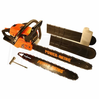 "PowerKing 16"" & 20"" Combination 45cc Gas Chainsaw"