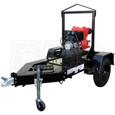 "Multiquip QP4TZTMPXF - 526 GPM (4"") Trailer Mounted Diesel Trash Pump w/ 28-Gal. Fuel Cell"