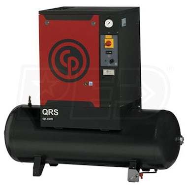 Chicago Pneumatic 10-HP 120-Gallon Rotary Screw Air Compressor (208/230/460V 3-Phase 125PSI)