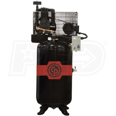 Chicago Pneumatic 5-HP 80-Gallon Two-Stage Air Compressor (230 3-Phase)